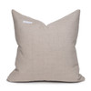Joey Indian Wool Copper  and Creme Stripe Pillow - 20- Back View