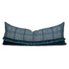 Julia Indian Delphi Wool Tassel Lumbar Pillow - 1436- Front View
