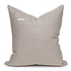 Kelby Luxe Vintage Pillow with African Aso Oke Textiles and 100% Eco-friendly Topanga linen in Natural & Cotton Velvet- 22- Back VIew
