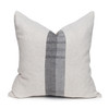 Misty Natural Linen and Aso Oke Pillow - 20- Front View