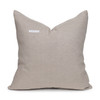 Misty Natural Linen and Aso Oke Pillow - 20- Back View
