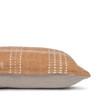 Morgan Handspun Indian Wool Copper and Ivory Stripe Lumbar Pillow- 18 x 26 -Side View