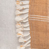 Morgan Handspun Indian Wool Copper and Ivory Stripe Lumbar Pillow- 18 x 26 -Details