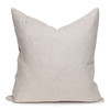 Neve Luxe Vintage Pillow with African Aso Oke Textiles and 100% Eco-friendly Topanga linen in Natural & Cotton Velvet- 22- Back View