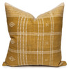 North Handspun Indian Wool Ivory and Gold 24 inch Pillow - Front