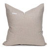 Owen Natural Linen and Aso Oke Pillow - 22- Back VIew