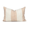 Rhea Lumbar Indian Wool Creme and Copper Stripe Pillow - 1420- Front View