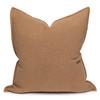Simone PURE LINEN pillow Ginger- 22 x 22 - front