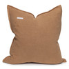 Simone PURE LINEN pillow Ginger- 22 x 22 - Back view