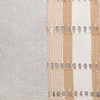 Tasi Natural Linen and Aso Oke Lumbar Pillow - 1420- details