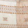 Teri Copper Pinstripe Hand Loomed Indian Wool Pillow -14 x 36-  details