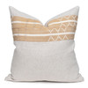 Toba Luxe Vintage Pillow with African Aso Oke Textiles, Linen in Natural-22- Front VIEW