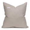 Toba Luxe Vintage Pillow with African Aso Oke Textiles, Linen in Natural-22-  Back view