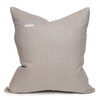 Trainer Pillow in Printed Taupe cotton mud cloth- 22 x 22- Back view
