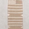 Triton Natural Linen and Aso Oke Lumbar Pillow - 1622- details