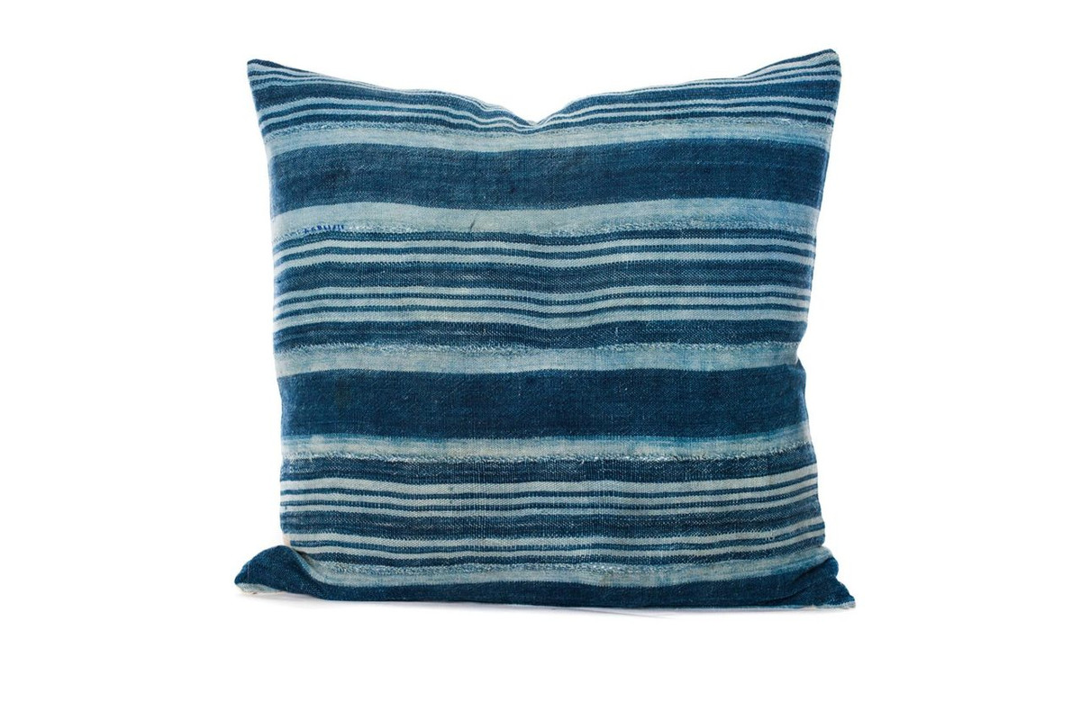 Vintage African Woven Stripe Pillow 22 x 22 - Front