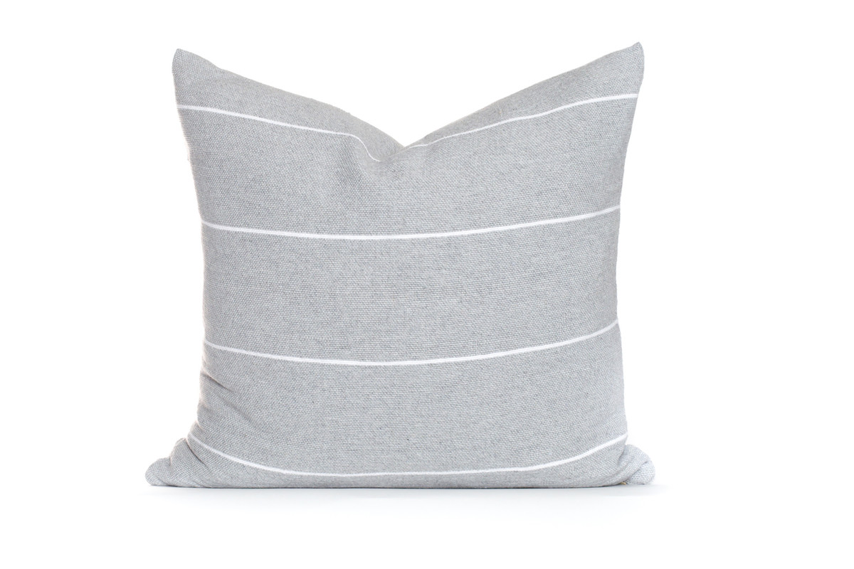 Beach House Pillow  Gray White