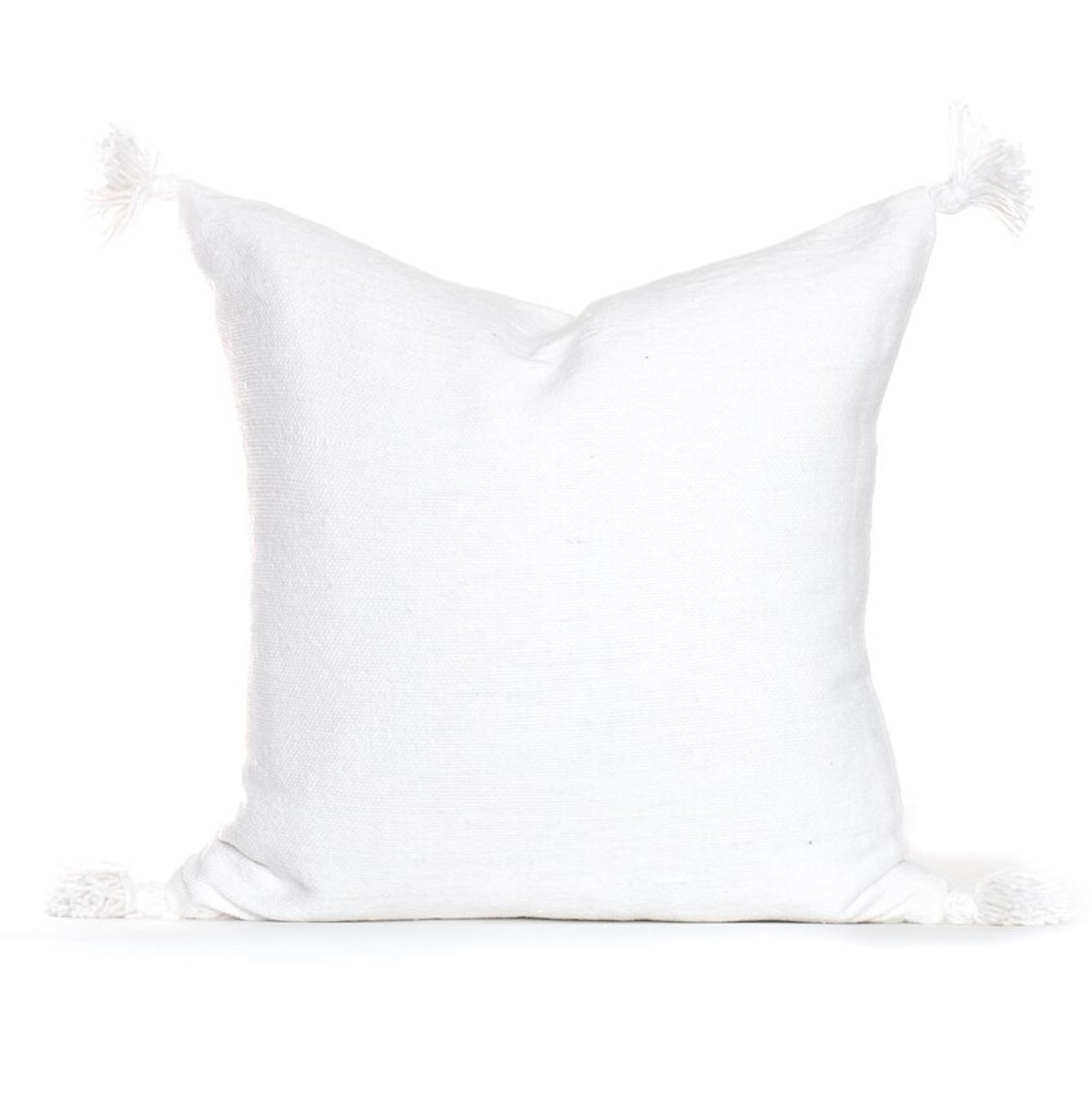 Frenchie Pillow - White - Front