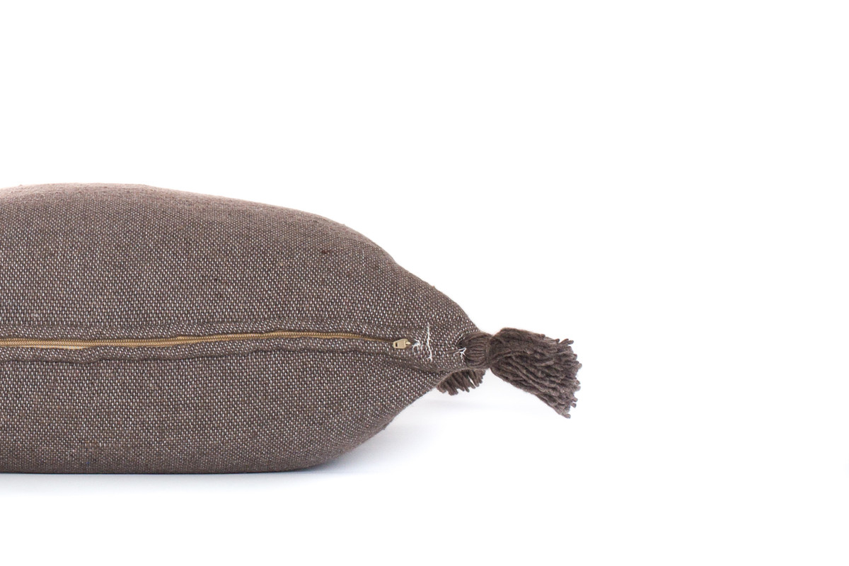 Frenchie Pillow Dark Taupe