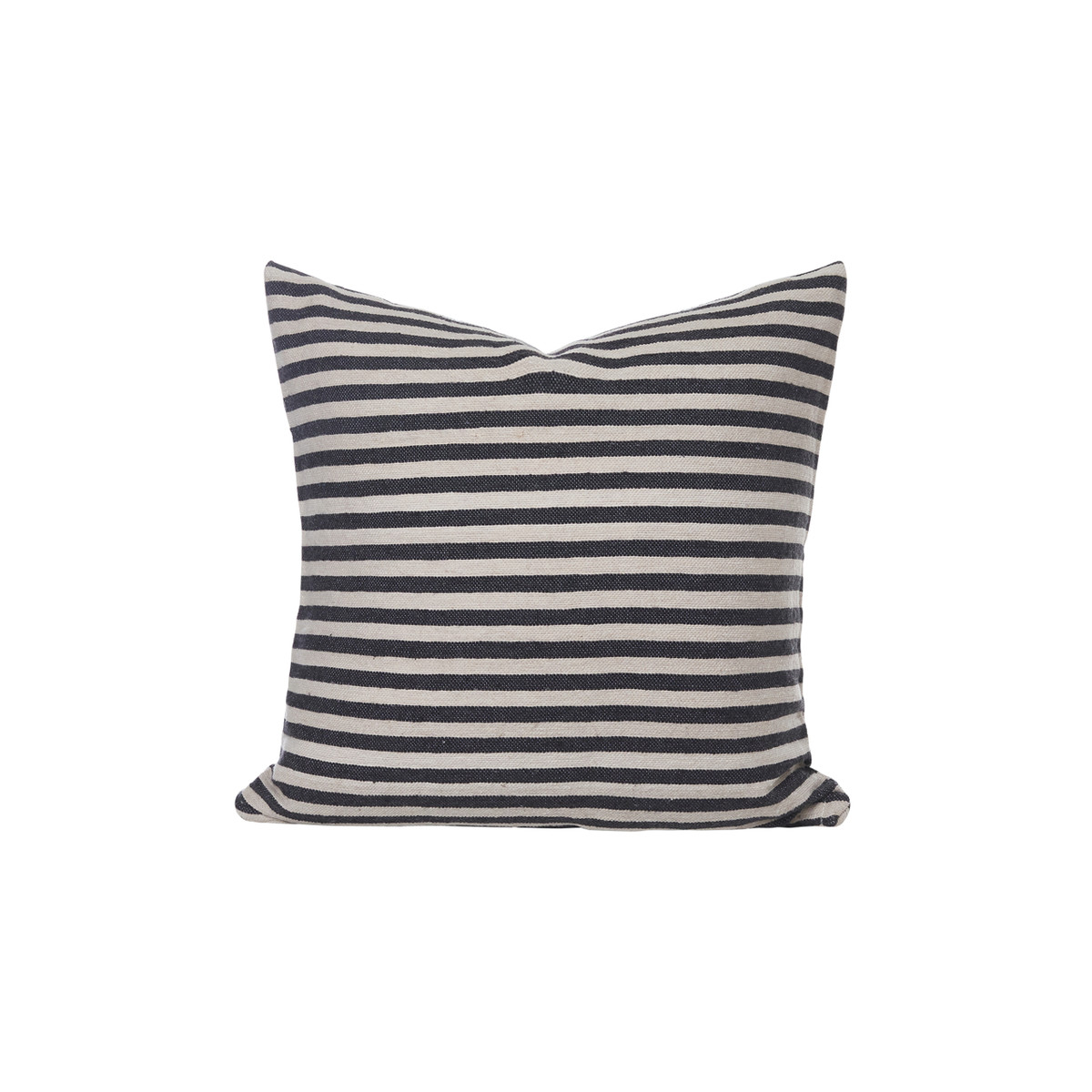 Cabana 1 - French Gray and Ivory Stripe Moroccan Pillow -