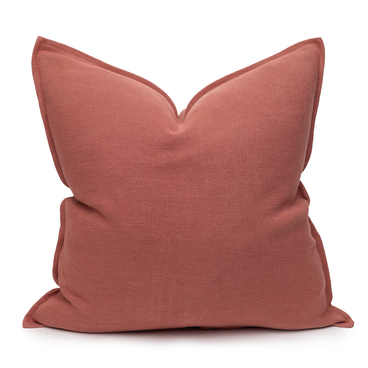 Simone PURE LINEN Pillow Terra Cotta - front