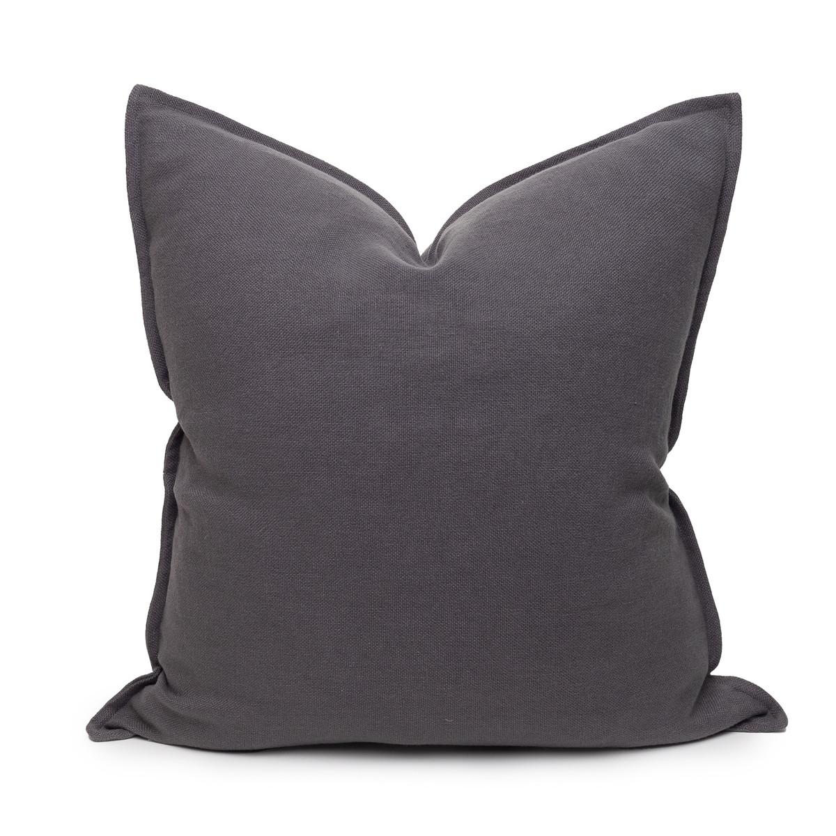Simone PURE LINEN Pillow 22 Charcoal - Front