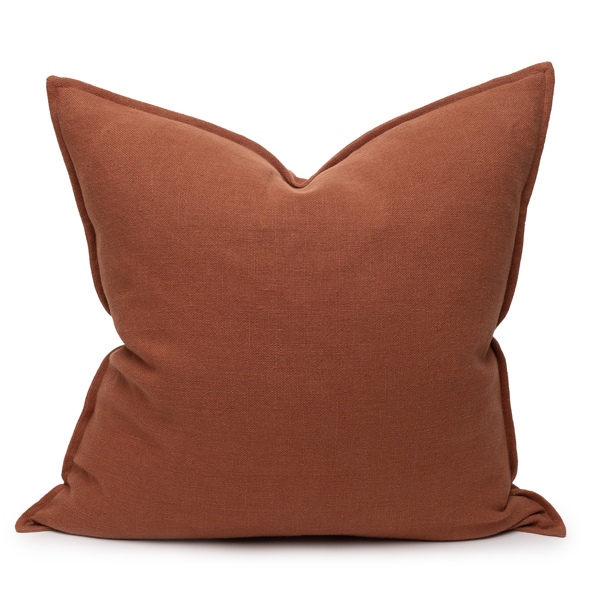 Simone PURE LINEN pillow Rust - front