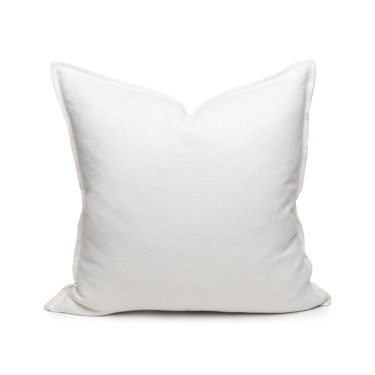 Simone PURE LINEN pillow White - front