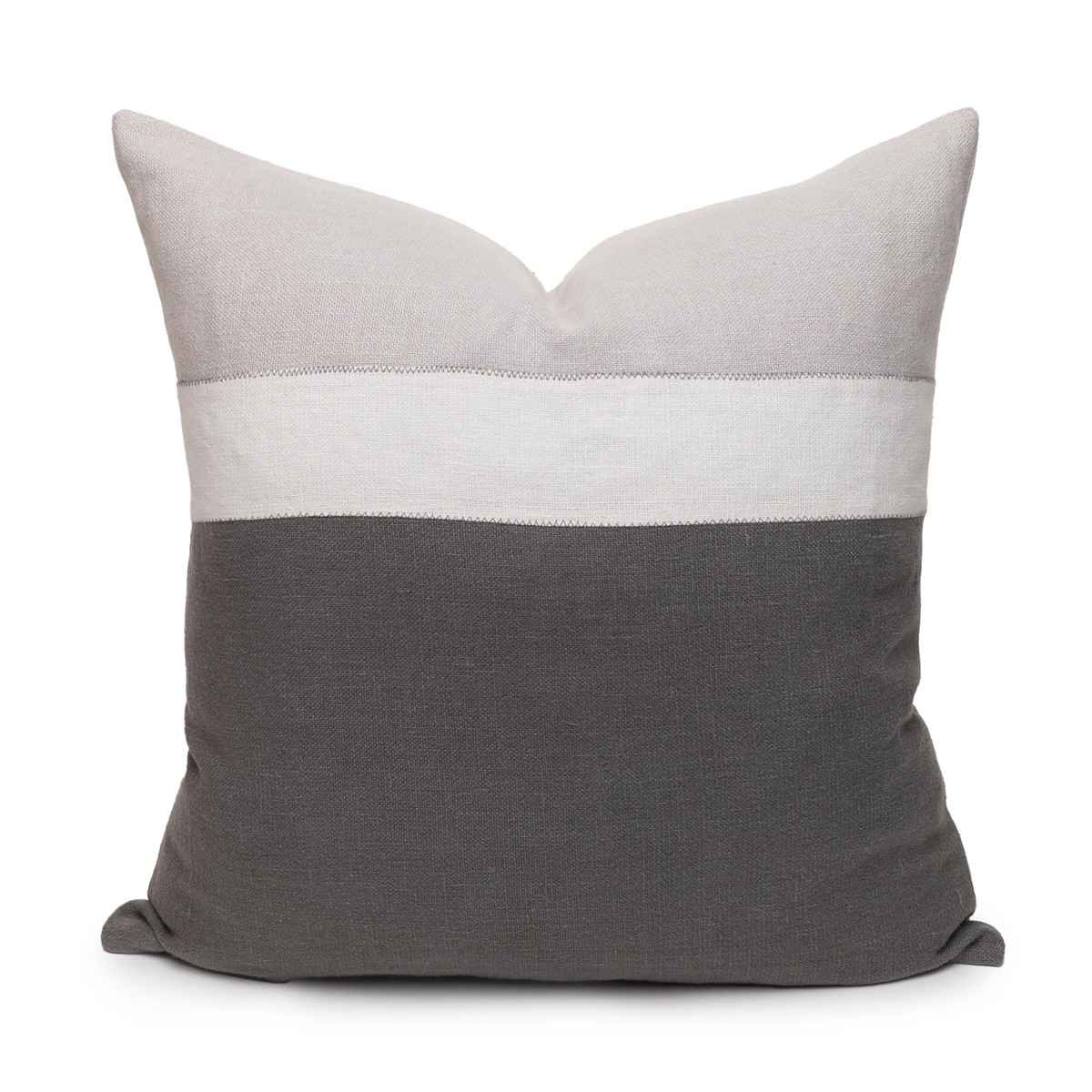 Cooper Pillow PURE LINEN Charcoal - Front