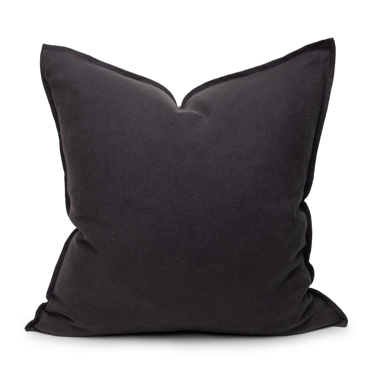 Simone PURE LINEN Pillow Carbon - front