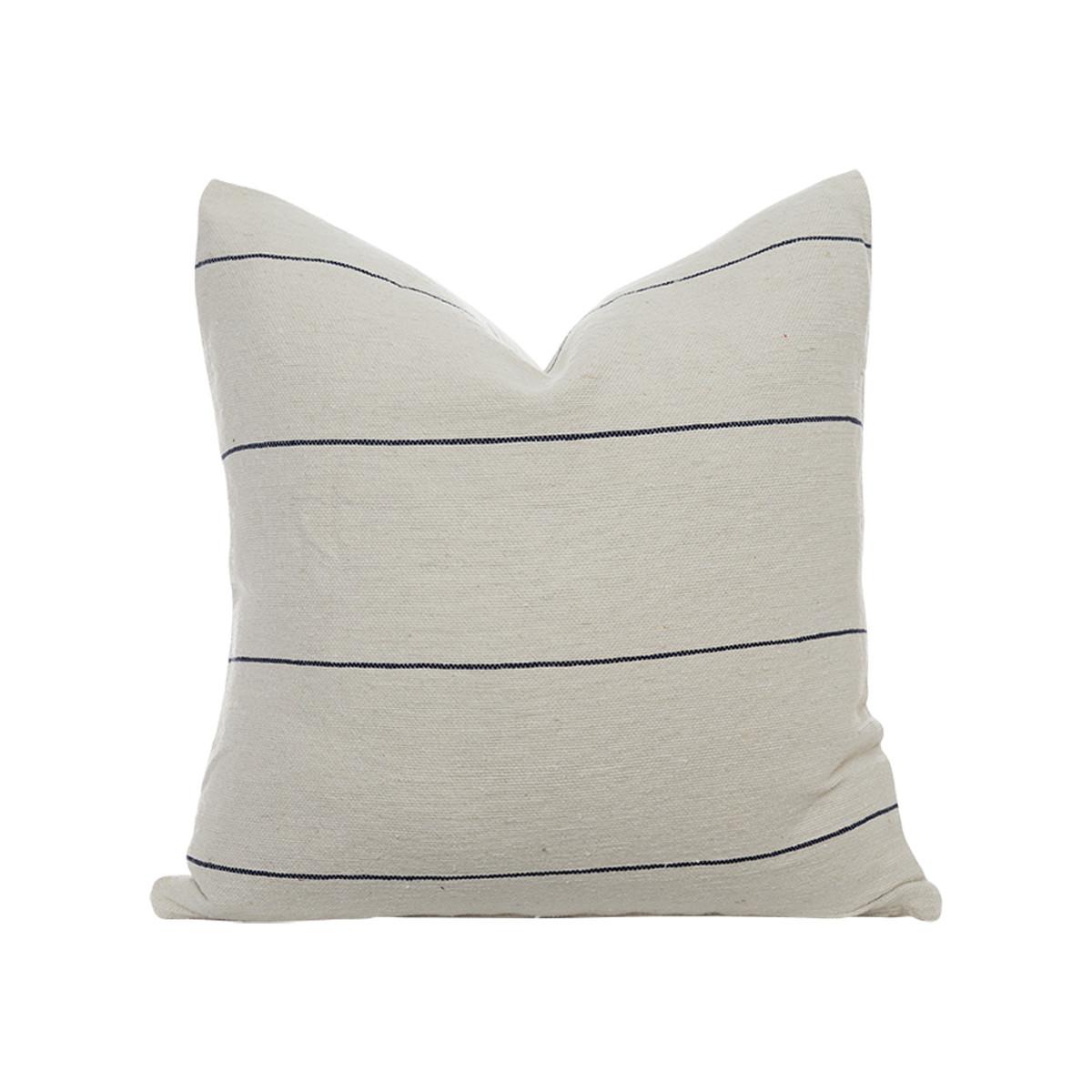 Beach House Pillow Ivory/Navy