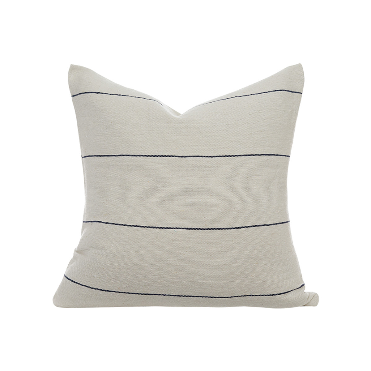 Beach House pillow Ivory/Navy pinstripe - front view