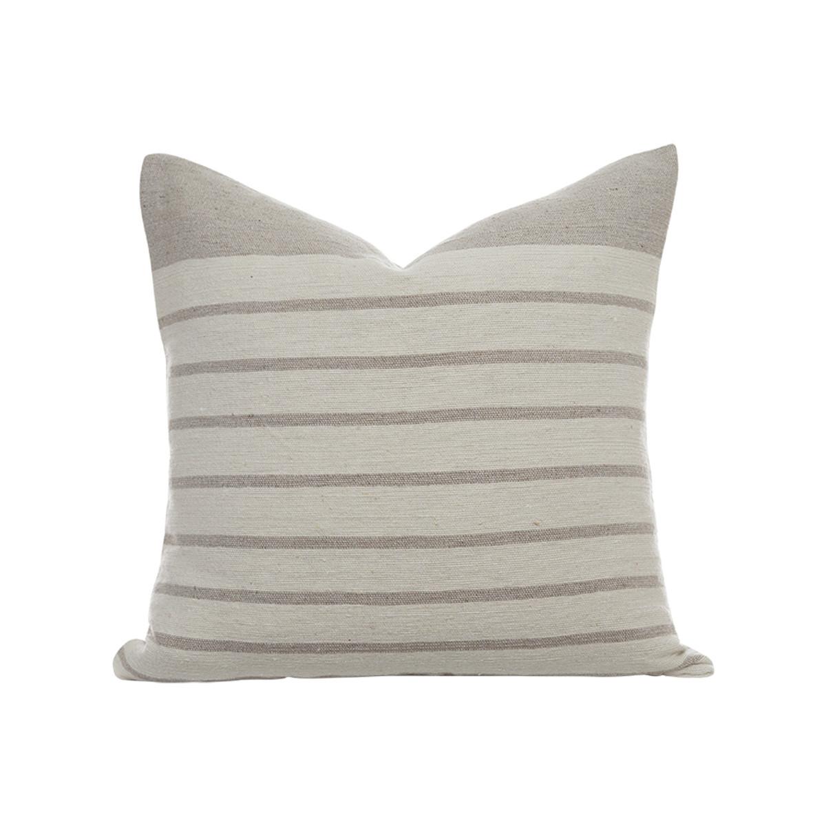 Sailor Pillow Ivory/Lt Taupe Stripe