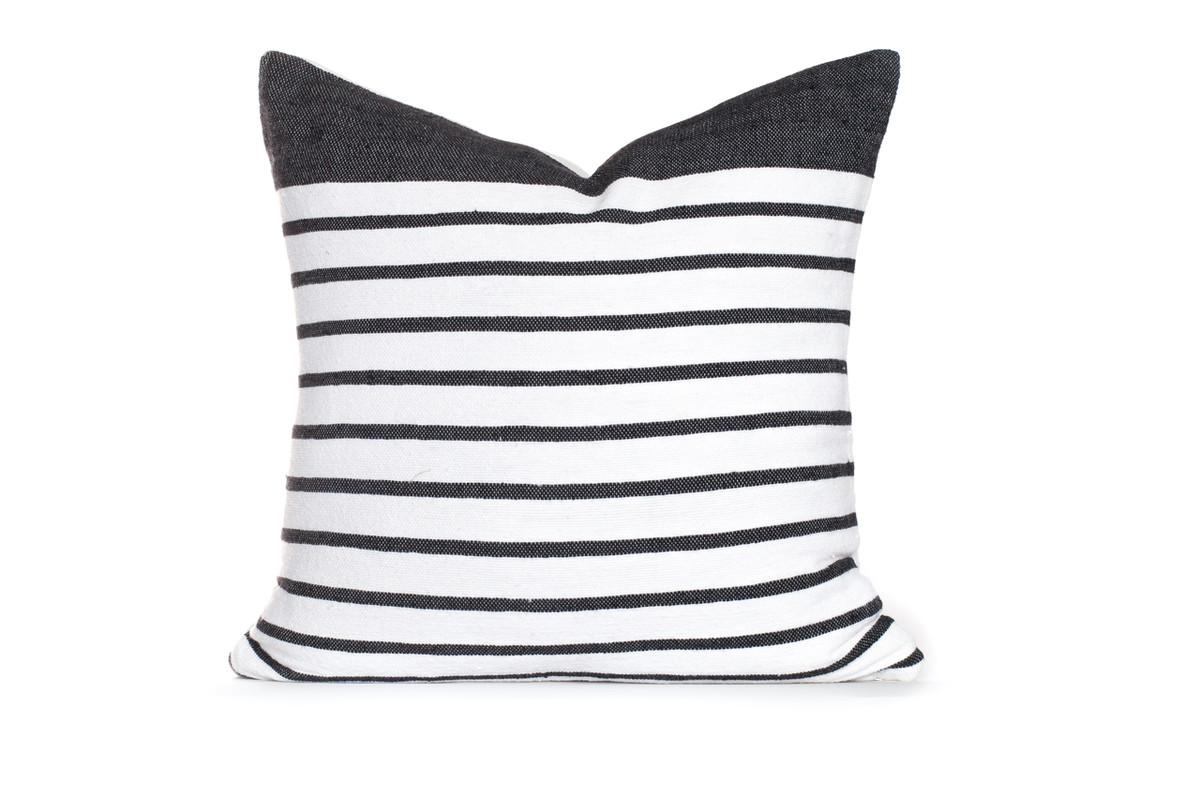 Sailor Pillow White/Black Stripe