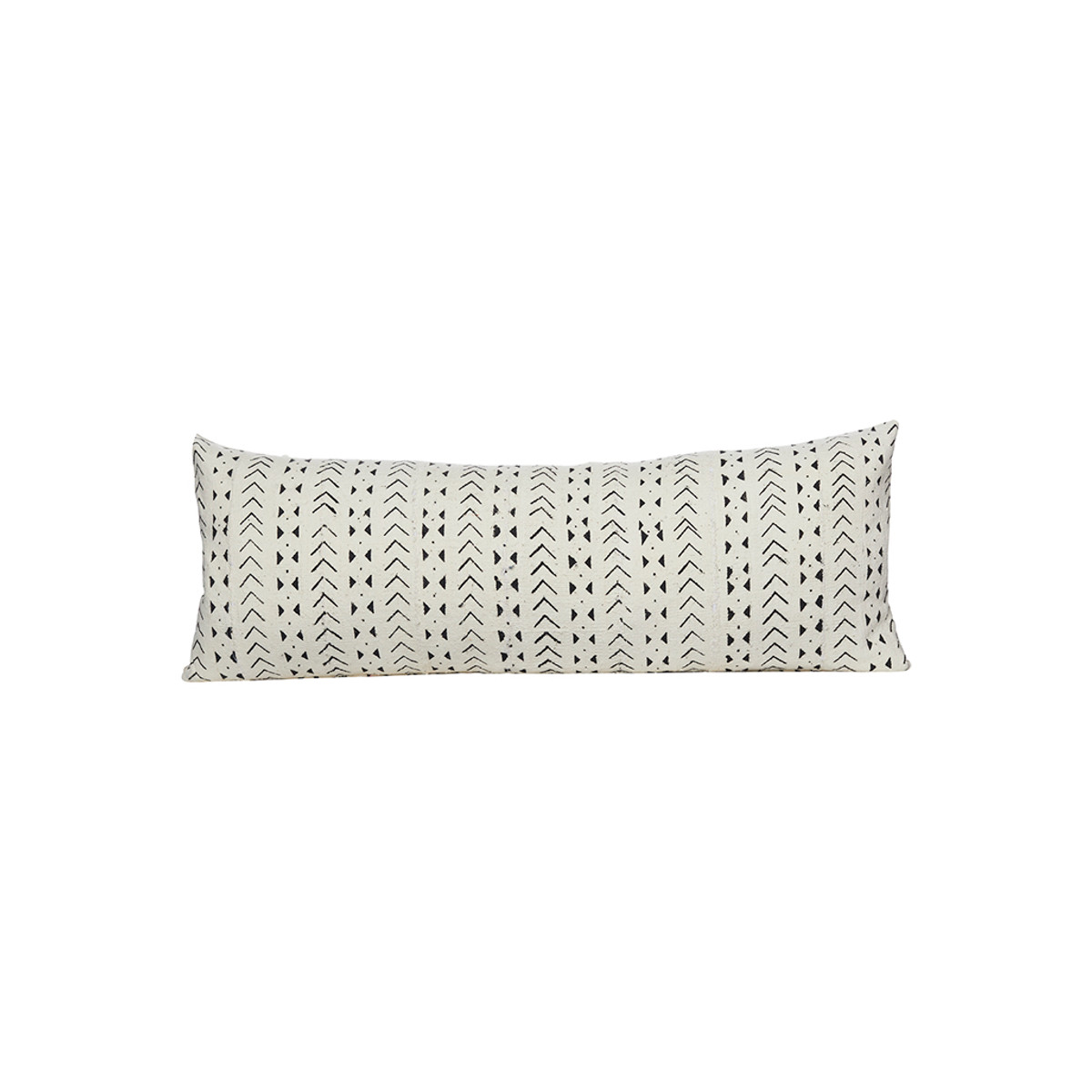 Milly White and black Mud Cloth Pillow - Front