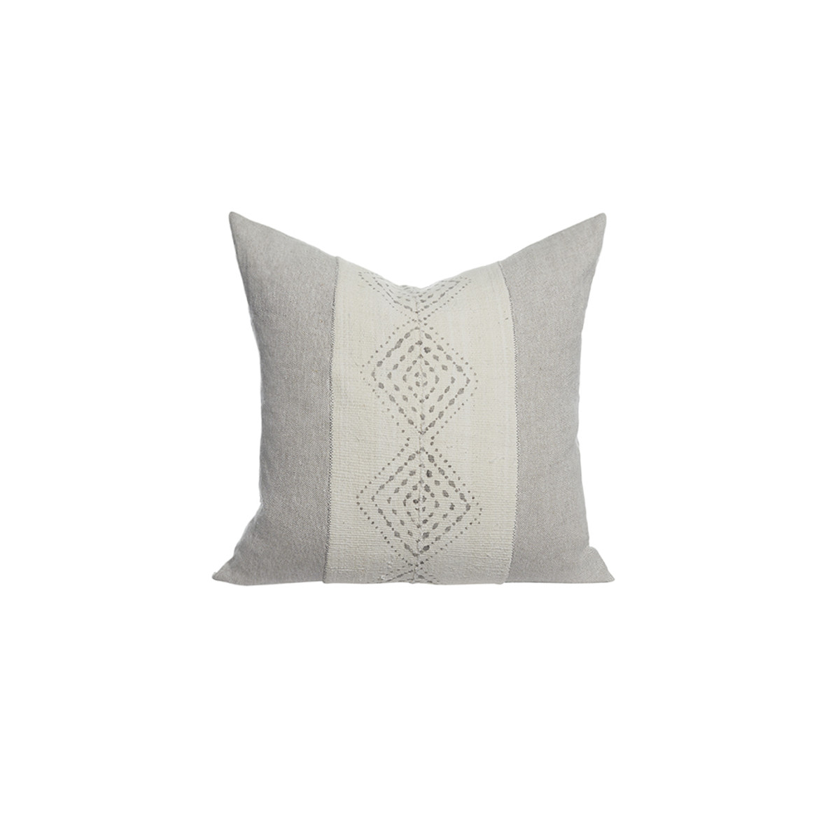 Labyrinth Mud Cloth Pillow - Front