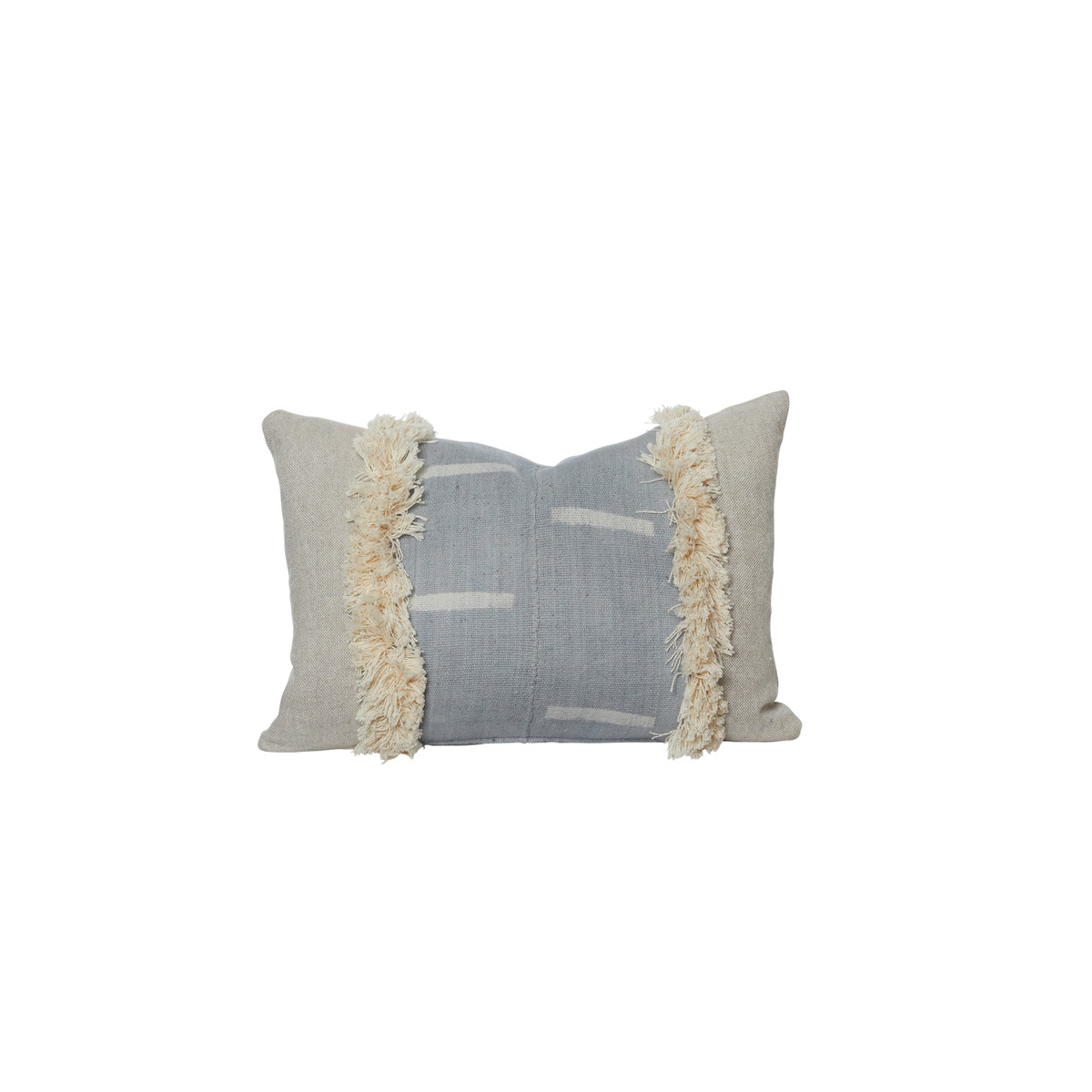 Marisa Gray Mud Cloth Lumbar Pillow Front