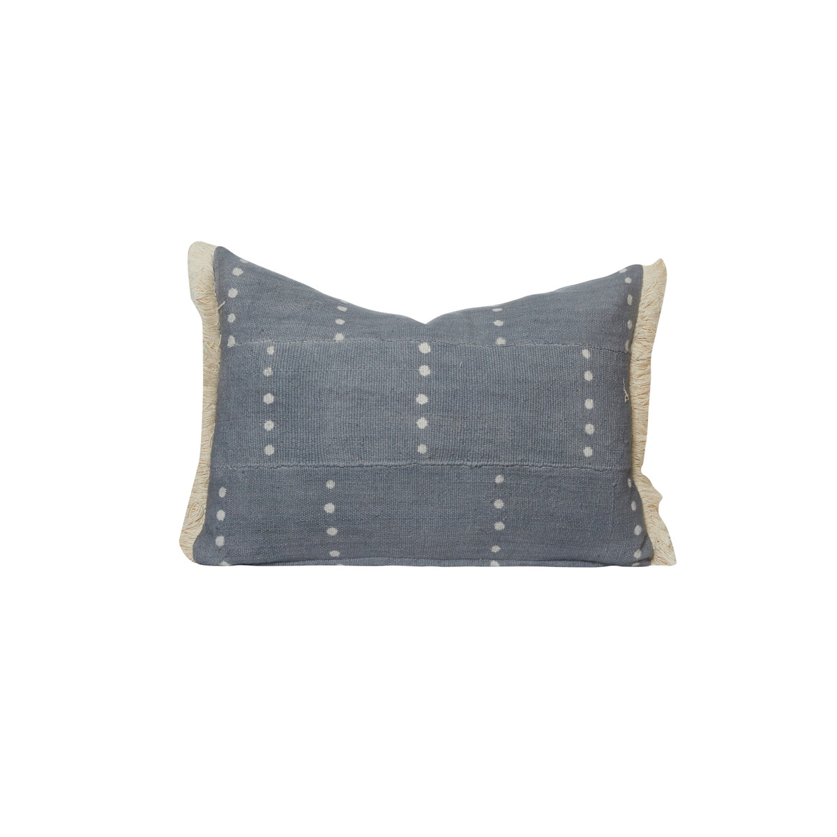 Dottie Gray Lumbar Mud Cloth PIllow - Front