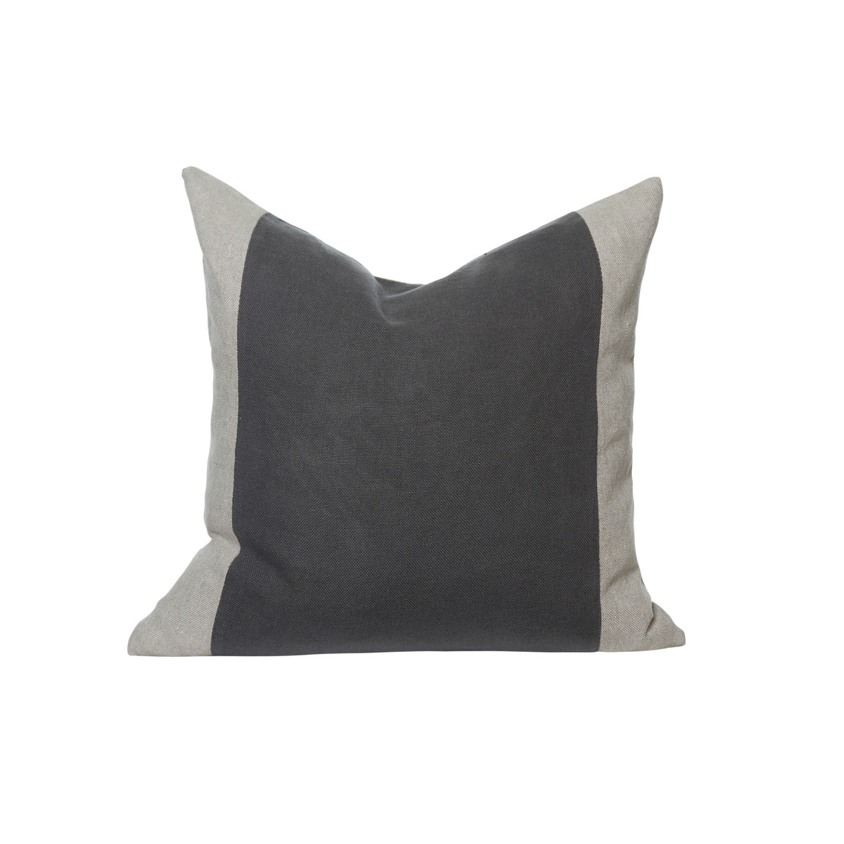 Christina Charcoal Linen Pillow 22 - Front
