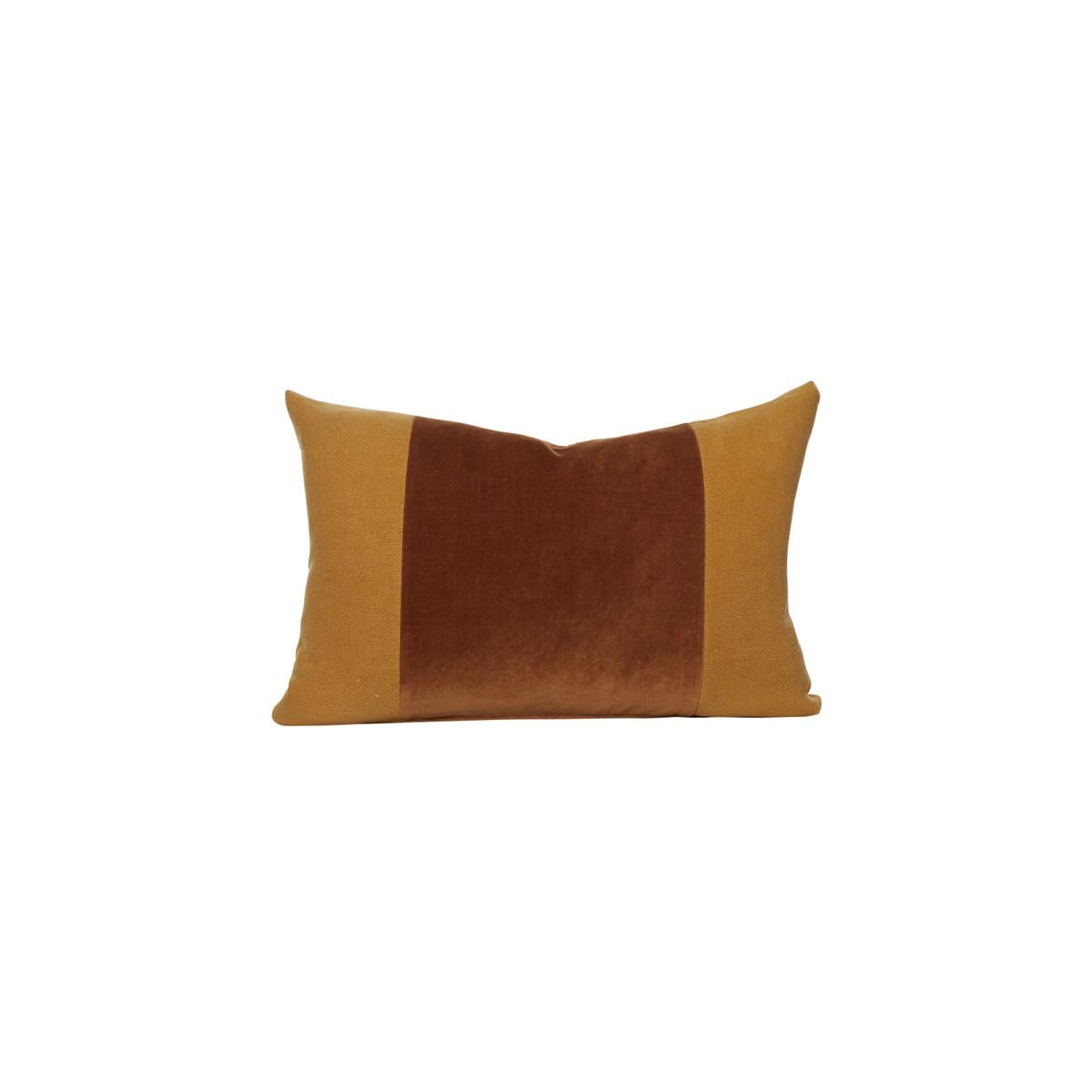 Aden Golden Topaz Velvet Decorative Pillow - Front