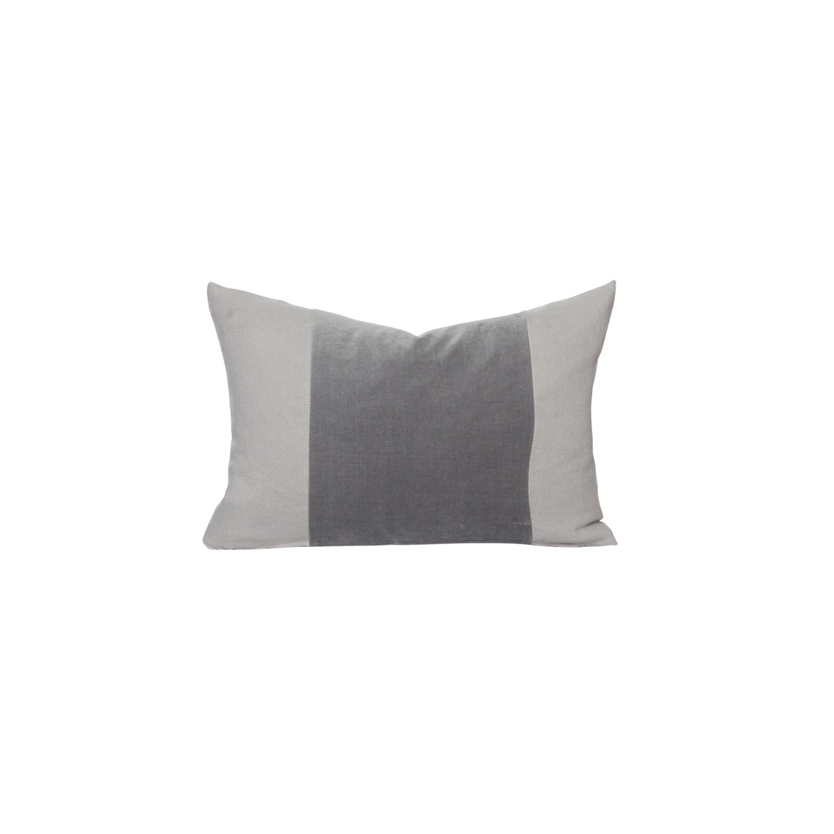 Aden gray moonstone velvet lumbar pillow - front