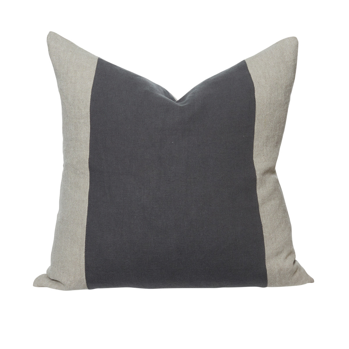 Christine 26 Gray Linen Euro Pillow - Front