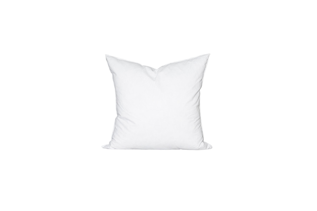 22 x 22 Square Feather Down Pillow Insert - Made in USA