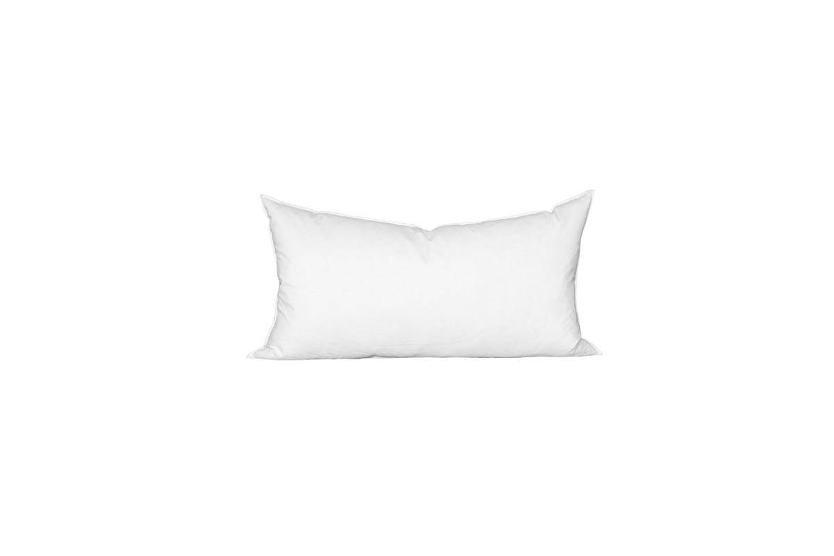 14 x 27 Lumbar Feather Down Pillow Insert - Made in USA