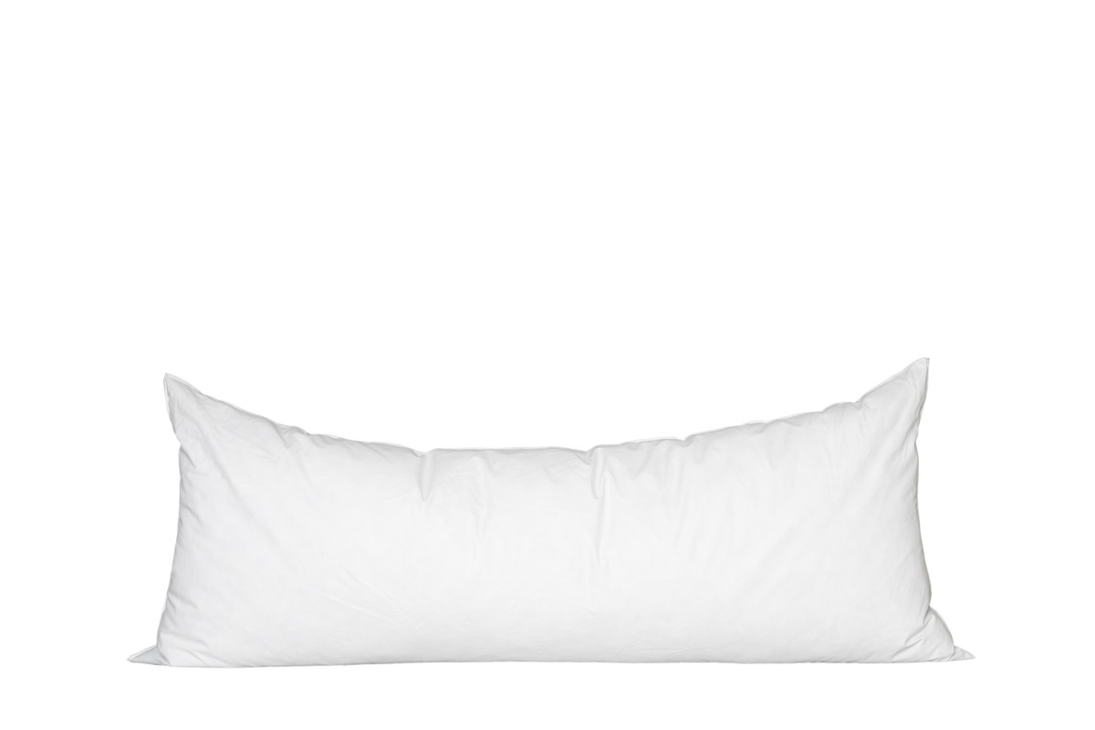 14 x 36 Lumbar Feather Down Pillow Insert - Made in USA