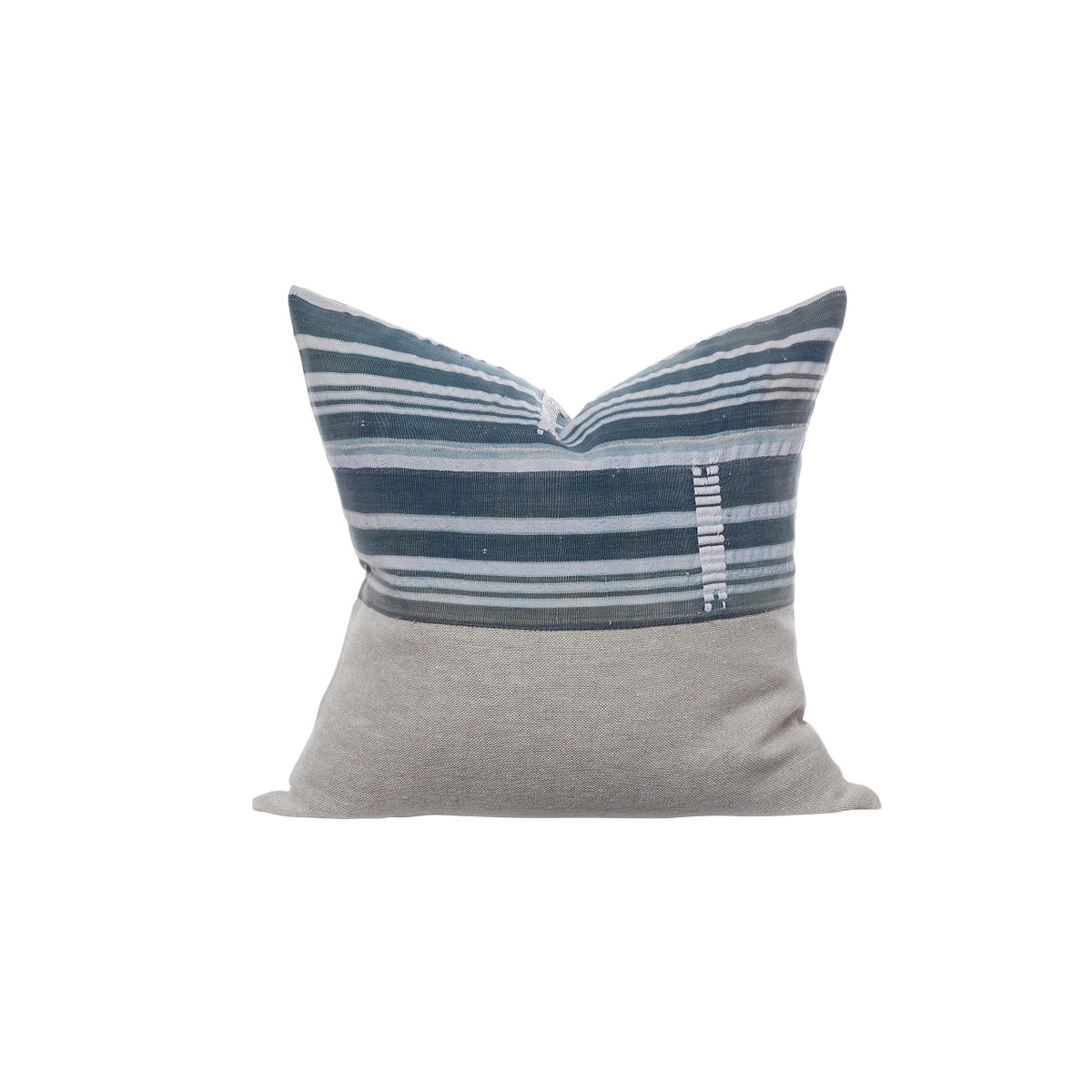 Vintage African Indigo Pillow  - Indigo Sea Pillow 22 - Front View