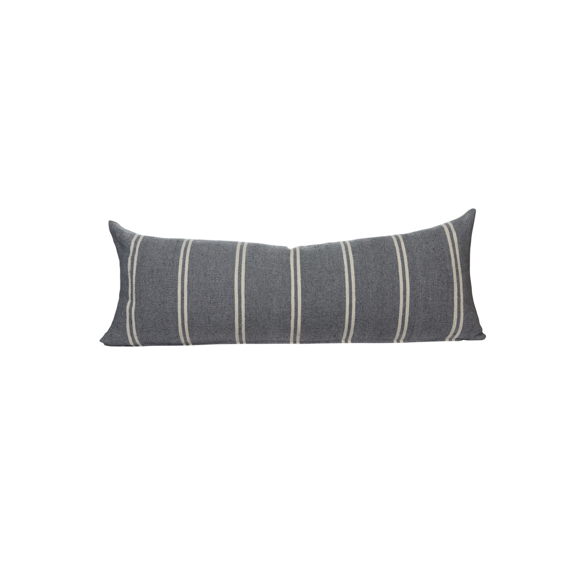 French Gray Capri Stripe  14 x 36 Decorative Lumbar - Front