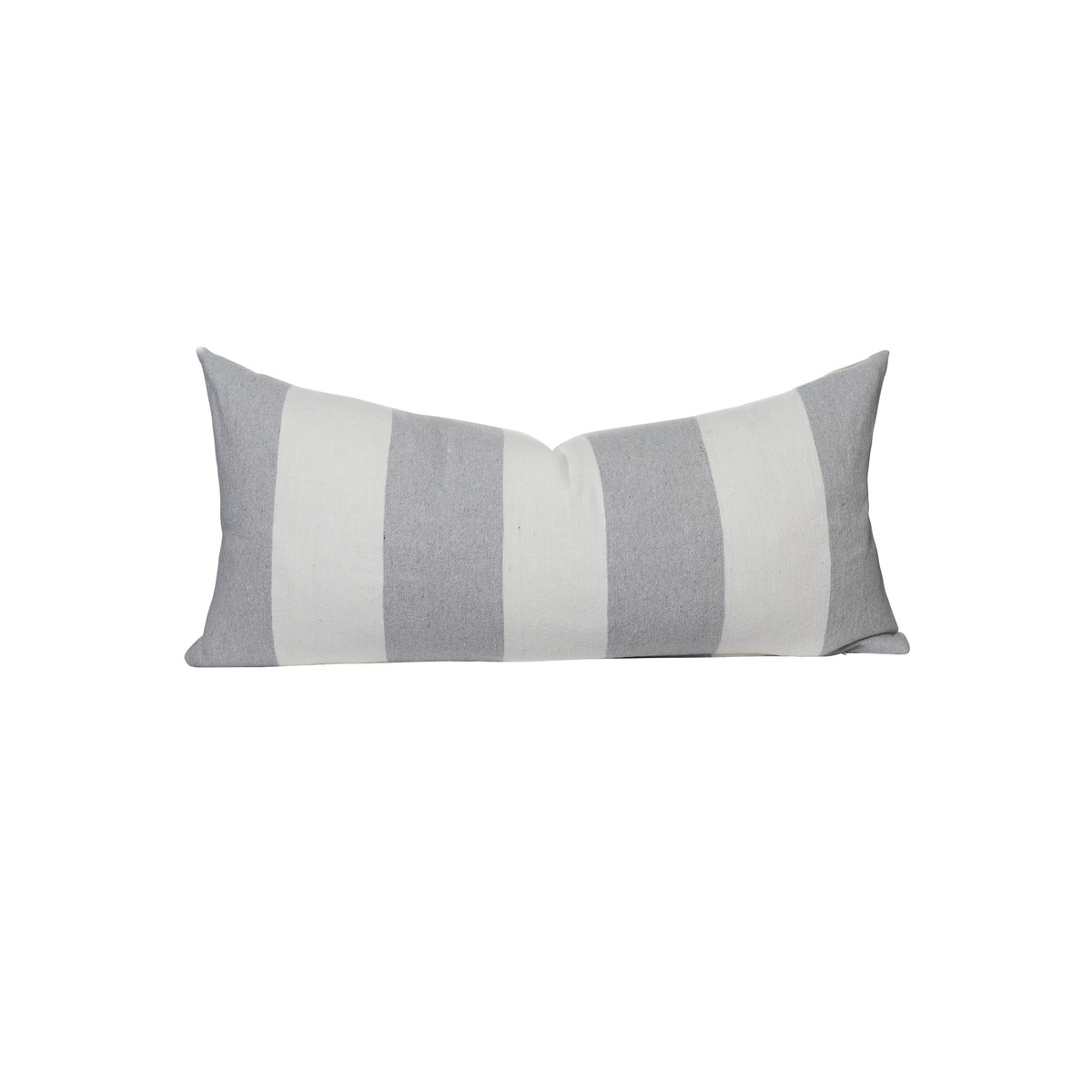 Gray and White Salt Stripe 16 x 36 Decorative Lumbar - Front