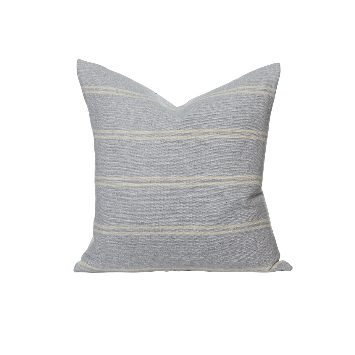 Capri Hand Loomed Stripe Pillow Front - Gris Clair - Front