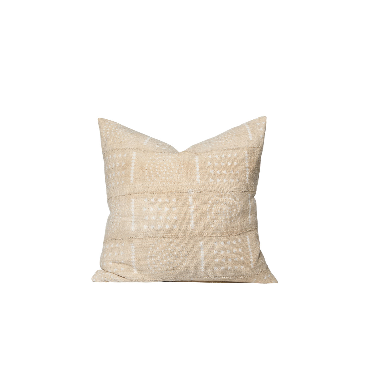 Ashwood Wheat and Ivory Mud Cloth Pillow - Front